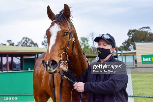 Marketing after winning the Vale Gerard ?Rusty' Barry 4YO+ Maiden Plate at Warracknabeal Racecourse on September 12, 2020 in Warracknabeal, Australia.