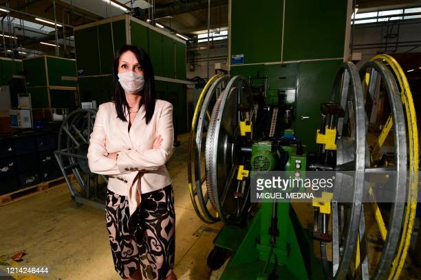 Marketing and Communication manager, company member and daughter of the company's founder, Maria Vittoria Falchetti poses at the Codogno-based...