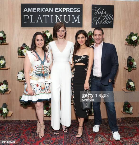 SVP Marketing and Digital Saks Emily Essner Model Coco Rocha Actress Singer Victoria Justice and VP Membership Rewards Loyalty Benefits American...