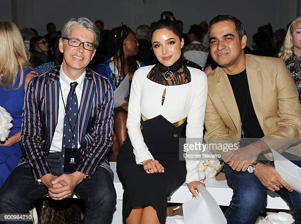 VP Marketing and Promotions at Supima Buxton S Midyette Olivia Culpo and fashion designer Bibhu Mohapatra attend the Supima Design Competition Ninth...