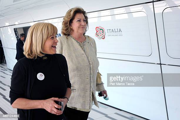 Marketing and Sales of Italian Pavilion Expo Milano 2015 and President Expo 2015 SpA Marina Gerni and Diana Bracco attend the Lavazza at Expo 2015...