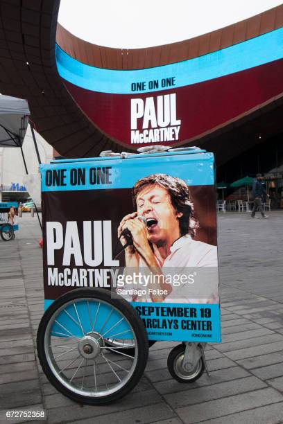 Marketing and treats promoting the new run of New Jersey and New York dates of Paul McCartney's One On One Tour at Barclays Center of Brooklyn on...