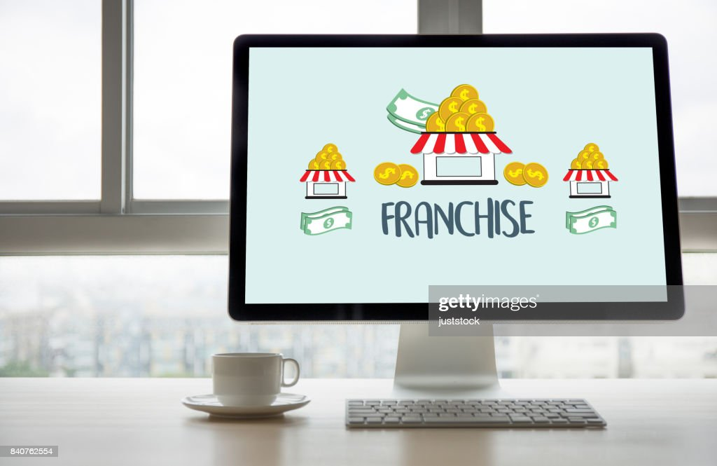 FRANCHISE  Marketing Branding Retail and Business Work Mission Concept : Stock Photo