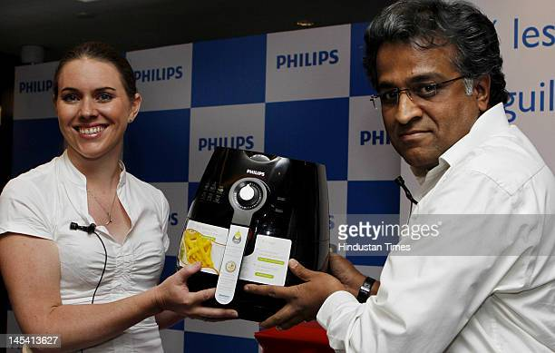 Marketing Director Domestic Appliances of Philips India Genevieve Tearle with President of Consumer Life style ADA Ratnam launches the Philips Air...