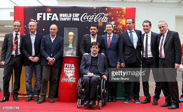 Marketing Director of CocaCola Italy Fabrizio Nucifora Antonio Cabrini Franco Causio Gennaro Gattuso Rome's City Counsellor for Sport and Lifestyle...