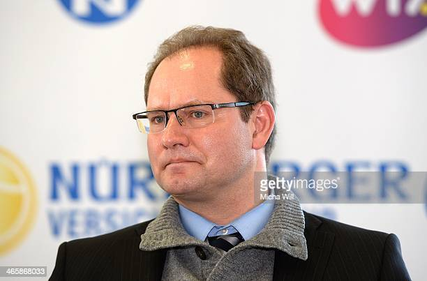 Marketing director of Lotto Bayern Xaver Faul attends the Nuernberger Versicherungscup 2014 press conference at the Business Tower Nuernberg on...