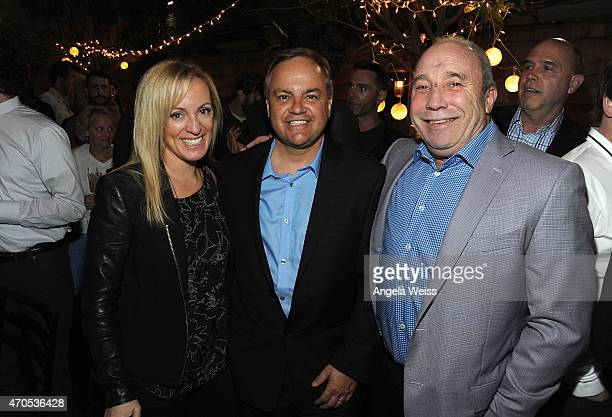 Marketing executive at Anchor Bay Entertainment Julie Cartwright Anchor Bay executive Kevin Kasha and Anchor Bay President Bill Clark attend the Los...