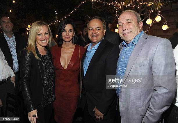 Marketing executive at Anchor Bay Entertainment Julie Cartwright director Courteney Cox Anchor Bay executive Kevin Kasha and Anchor Bay President...