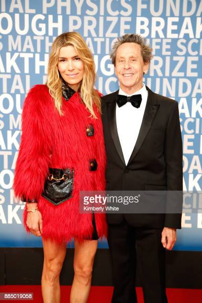 Marketing executive Veronica Smiley and producer Brian Grazer attend the 2018 Breakthrough Prize at NASA Ames Research Center on December 3 2017 in...