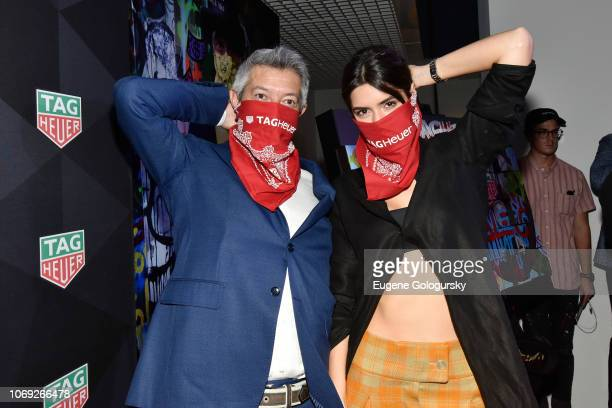 Marketing North America Andrea Soriani and Paulina Vega attend the TAG Heuer celebration of Art Basel Miami 2018 with the launch of Alec Monopoly's...