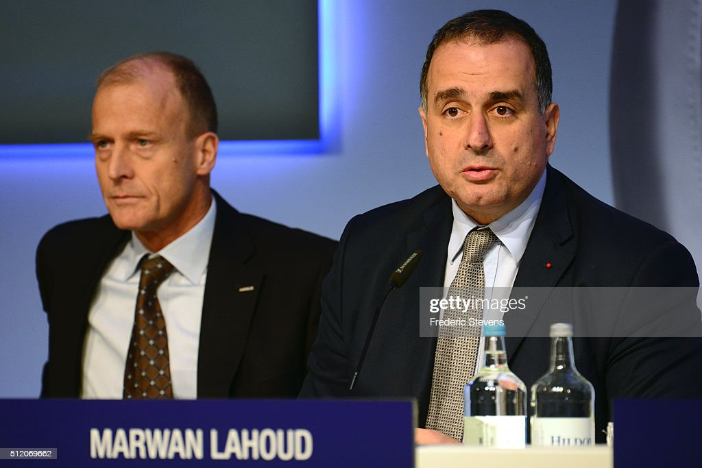 Marketing Officer of Airbus Group, Marwan Lahoud speaks during a press conference to announce the company's annual results on February 24, 2016 in London, United Kingdom. Airbus Group announced its net profits climbed 15 percent last year and predicted deliveries of more than 650 aircraft in 2016.