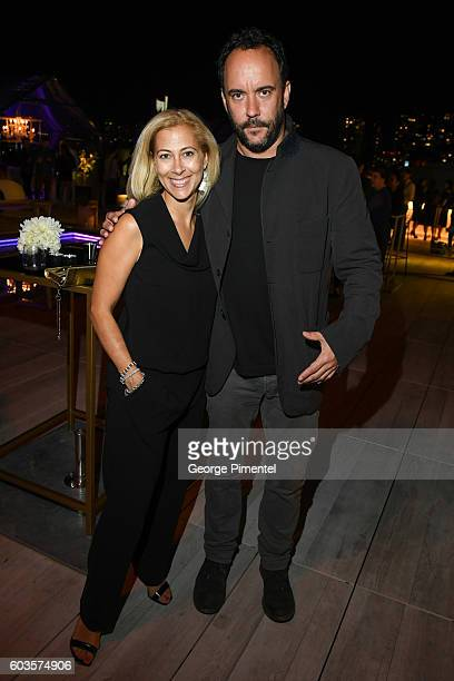 Marketing Public Relations Coordinator at HUGO BOSS Canada Dawn Bellini and Musician Dave Matthews attend 'La La Land' After Party Hosted By Hugo...