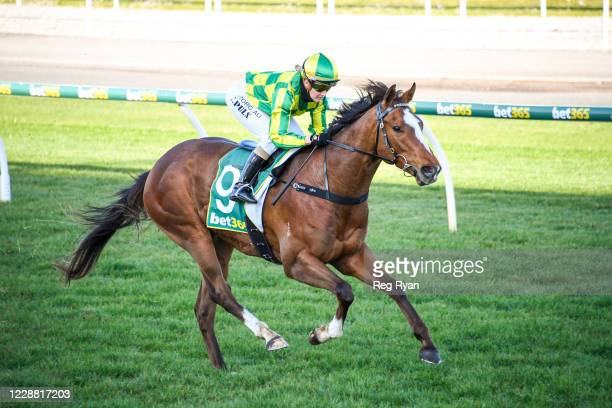 Marketing ridden by Christine Puls wins the Bay FM BM64 Handicap at Geelong Racecourse on October 01, 2020 in Geelong, Australia.