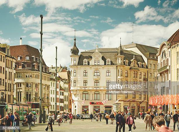 marketplatz basel, switzerland - image stock-fotos und bilder