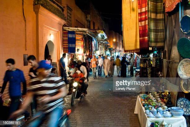 Markets of the medina at night.