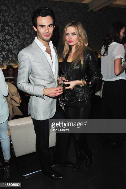 MarkFrancis Vandelli and Agne Motiejunaite attend 'The Lucky One' European premiere at the Chelsea Cinema on April 23 2012 in London England