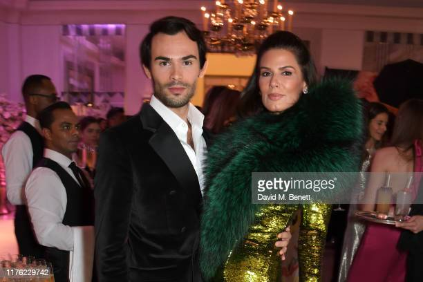 MarkFrancis Vandelli and Christina Estrada attend the Lady Garden Foundation Gala 2019 at Claridge's Hotel on October 16 2019 in London England