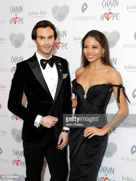 MarkFrancis Vandelli and Emma Weymouth arriving at the Chain Of Hope Gala Ball held at Grosvenor House on November 17 2017 in London England
