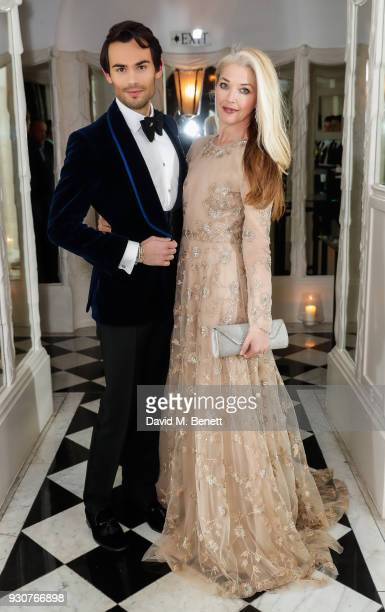MarkFrancis Vandelli and Tamara Beckwith attend a dinner hosted by Dennis Basso celebrating the inclusion of his portrait by David Downton in The...