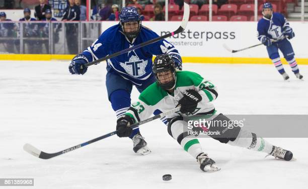 Markham's Lindsay Grigg loses an edge as she's chased by Furies Jenna Dingeldein The Toronto Furies open their Canadian Women's Hockey League...