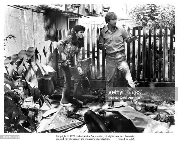 Marki Bey follows Beau Bridges in a scene from the film 'The Landlord' 1970