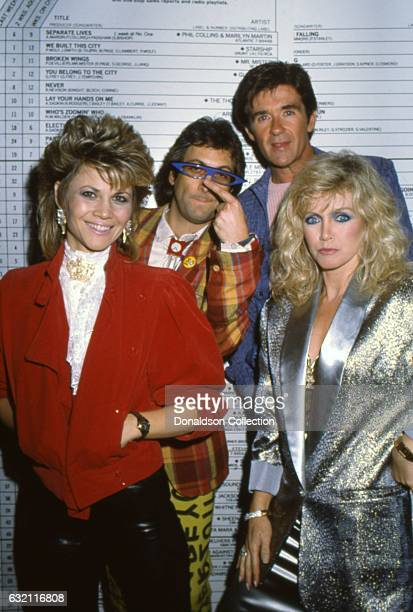 Markie Post Stephen Bishop Alan Thicke and Donna Mills in 1985 in Los Angeles California