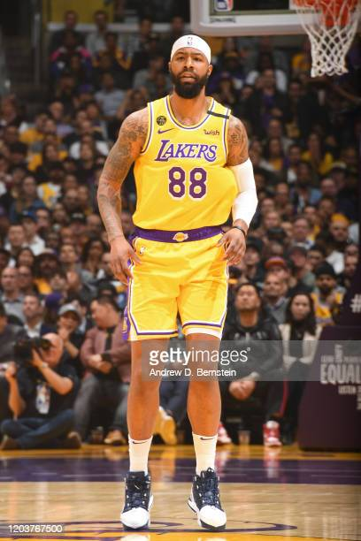 Markieff Morris of the Los Angeles Lakers looks on during the game on February 25 2020 at STAPLES Center in Los Angeles California NOTE TO USER User...
