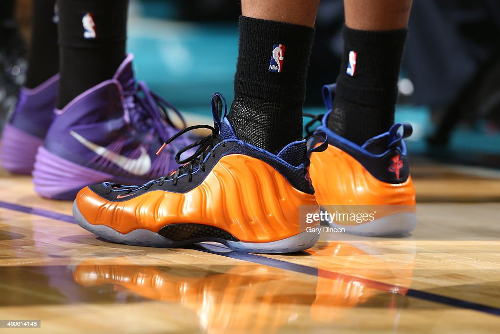 6261c3b1332 Markieff Morris of the Phoenix Suns wears the Nike Air Foamposite ...