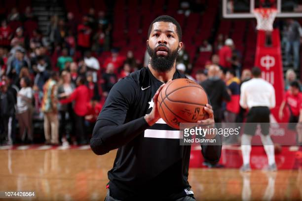 Markieff Morris of the Washington Wizards warms up before the game against the Houston Rockets on December 19 2018 at the Toyota Center in Houston...