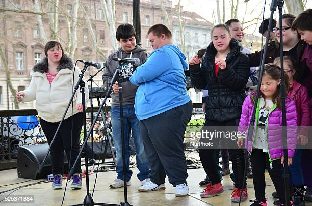 Marking the World Down Syndrome Day in park Zrinjevac organized by the Down syndrome Association Zagreb The event was supported also President of the...