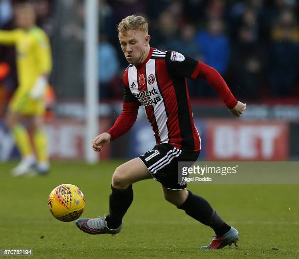 MarknDuffy of Sheffield United during the Sky Bet Championship match between Sheffield United and Hull City at Bramall Lane on November 4 2017 in...