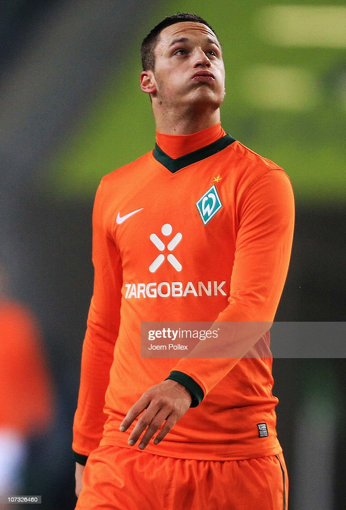 Marko Arnautovic of Bremen is seen after the Bundesliga match between VfL Wolfsburg and SV Werder Bremen at Volkswagen Arena on December 4, 2010 in Wolfsburg, Germany.