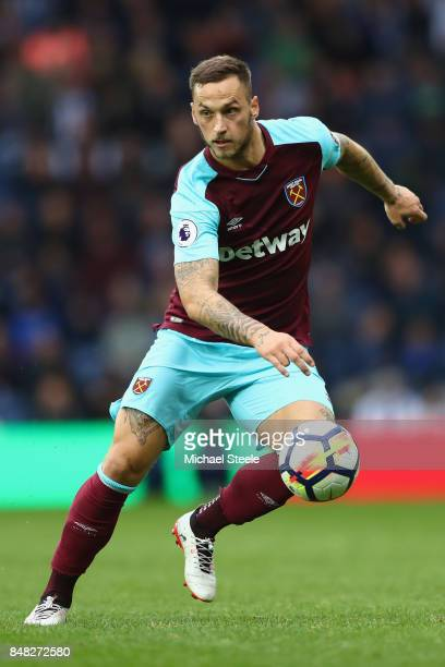Marko Arnautovic of West Ham United during the Premier League match between West Bromwich Albion and West Ham United at The Hawthorns on September 16...