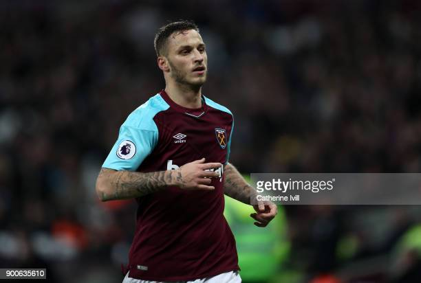 Marko Arnautovic of West Ham United during the Premier League match between West Ham United and West Bromwich Albion at London Stadium on January 2...