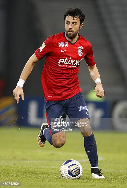 Marko Basa of Lille in action during the French League Cup match between Lille OSC and Girondins de Bordeaux at Grand Stade Pierre Mauroy stadium on...