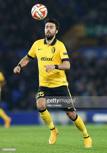 Marko Basa of LOSC Lille during the UEFA Europa League match between Everton FC and LOSC Lille at Goodison Park on November 6 2014 in Liverpool...