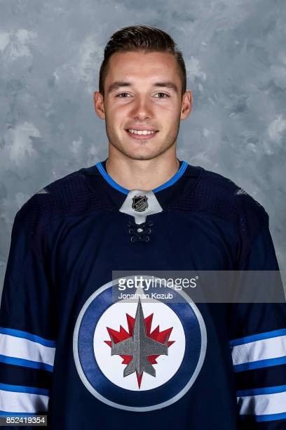 Marko Dano of the Winnipeg Jets poses for his official headshot for the 20172018 season on September 14 2017 at the Bell MTS Iceplex in Winnipeg...