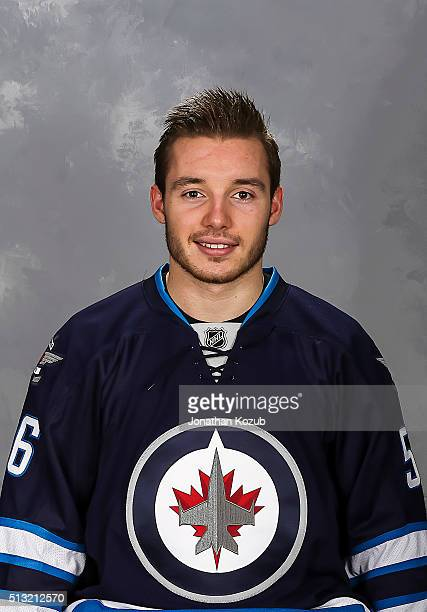Marko Dano of the Winnipeg Jets poses for his official headshot prior to NHL action against the Florida Panthers at the MTS Centre on March 1 2016 in...