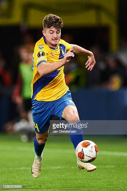 Marko Divkovic of Brondby IF in action during the UEFA Europa League match between Brondby IF and AC Sparta Praha at Brondby Stadion on September 16,...