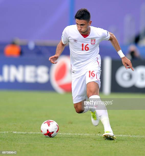 Marko Grujic during the UEFA European Under21 match between Portugal and Serbia at Arena Bydgoszcz on June 17 2017 in Bydgoszcz Poland