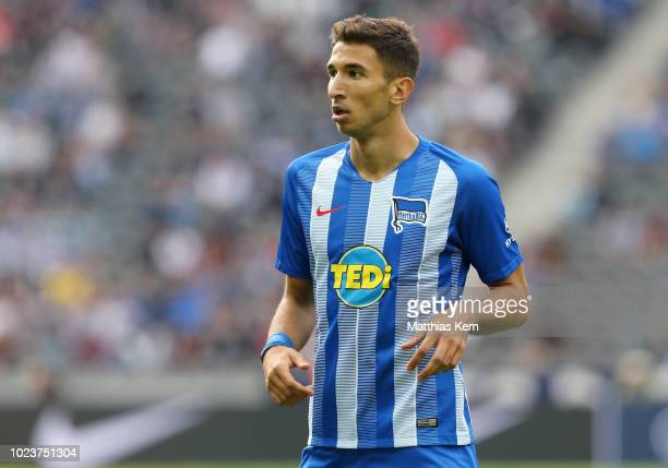 Marko Grujic of Berlin looks on during the Bundesliga match between Hertha BSC and 1 FC Nuernberg at Olympiastadion on August 25 2018 in Berlin...