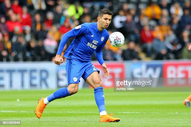 Marko Grujic of Cardiff City during the Sky Bet Championship match between Hull City and Cardiff City at KCOM Stadium on April 28 2018 in Hull England