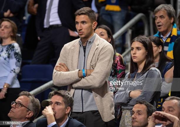 Marko Grujic of Hertha BSC during the Eurocup finals match between Alba Berlin and Valencia Basket Club at MercedesBenz Arena on April 12 2019 in...
