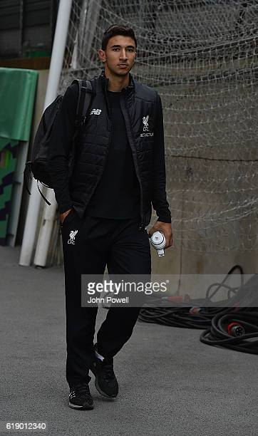 Marko Grujic of Liverpool arrives for the Premier League match between Crystal Palace and Liverpool at Selhurst Park on October 29 2016 in London...