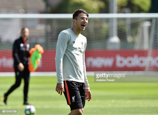 Marko Grujic of Liverpool during a training session at Melwood Training Ground on May 10 2017 in Liverpool England
