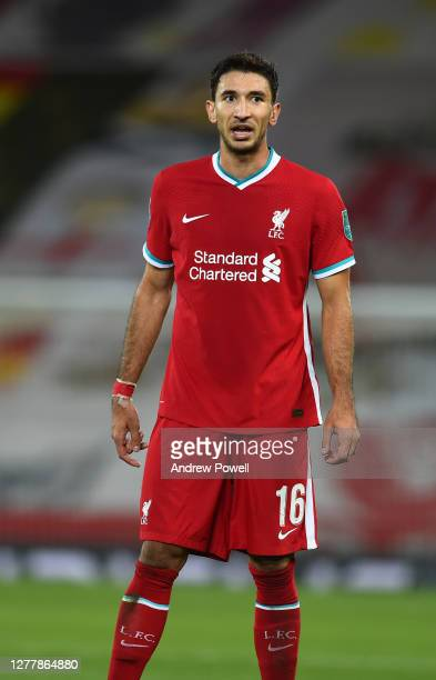 Marko Grujic of Liverpool during the Carabao Cup fourth round match between Liverpool and Arsenal at Anfield on October 01, 2020 in Liverpool,...