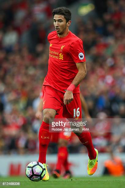 Marko Grujic of Liverpool during the Premier League match between Liverpool and Hull City at Anfield on September 24 2016 in Liverpool England