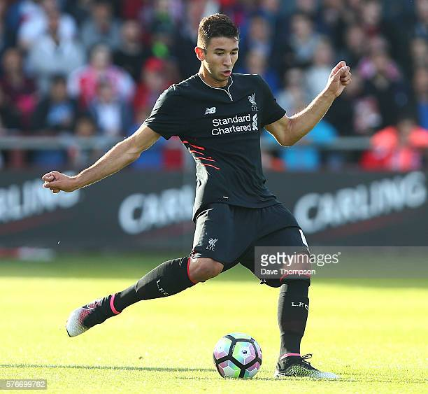 Marko Grujic of Liverpool during the PreSeason Friendly match between Fleetwood Town and Liverpool at Highbury Stadium on July 13 2016 in Fleetwood...