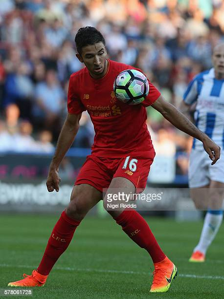 Marko Grujic of Liverpool during the PreSeason Friendly match between Huddersfield Town and Liverpool at the Galpharm Stadium on July 20 2016 in...