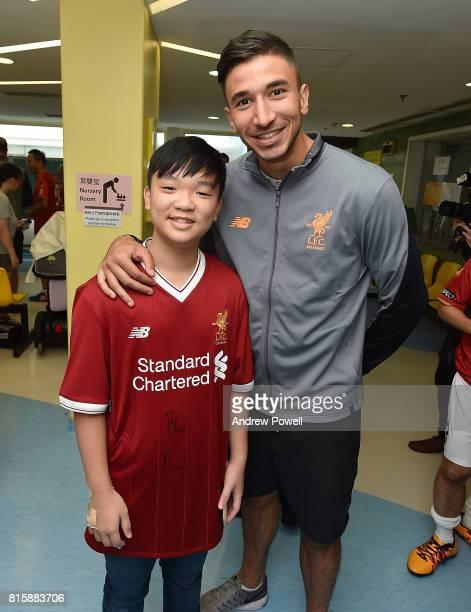 Marko Grujic of Liverpool visit The Duchess of Kent Children's Hospital Hong Kong during the PreSeason tour on July 17 2017 in Hong Kong Hong Kong